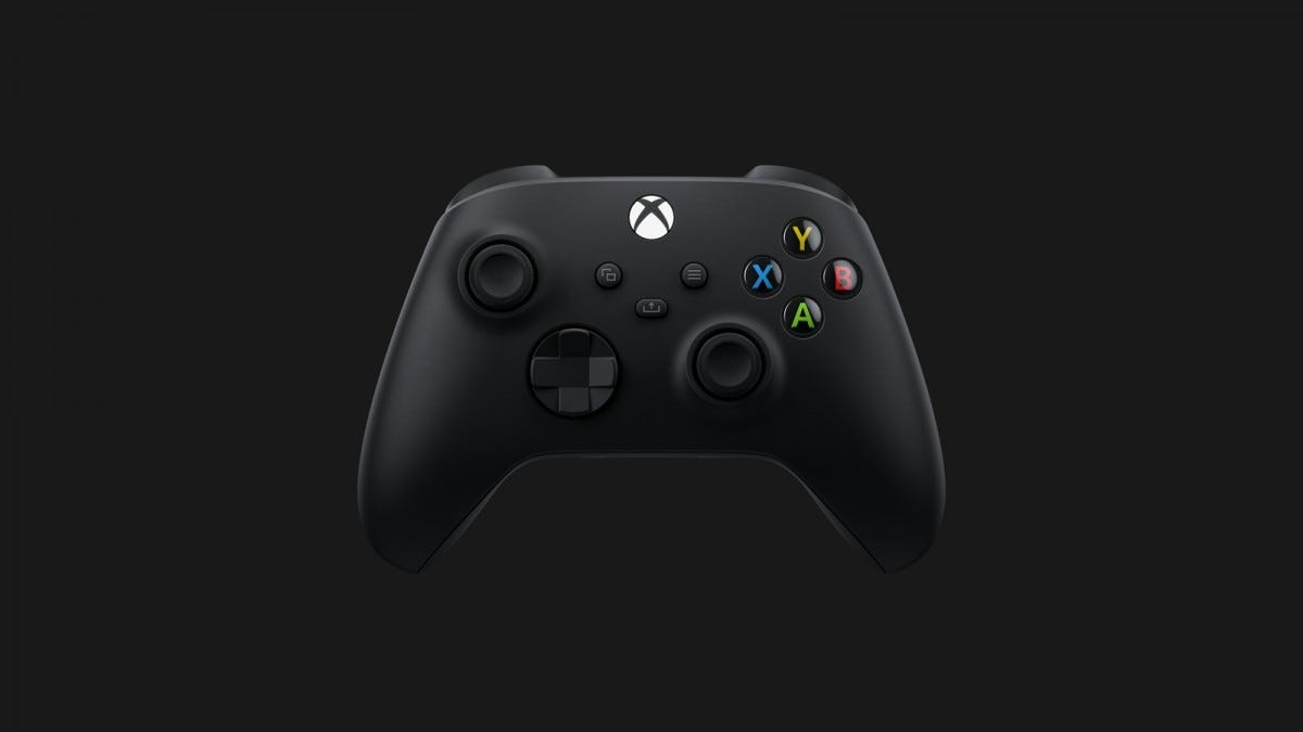 A Microsoft Series X controller with share button.