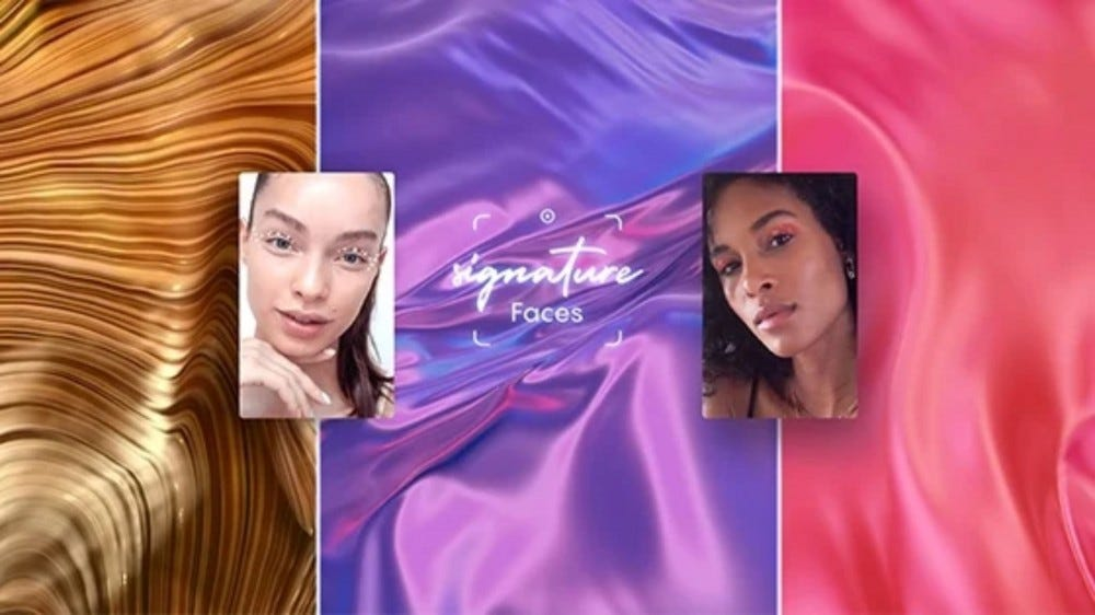 L'Oreal Signature Faces banner