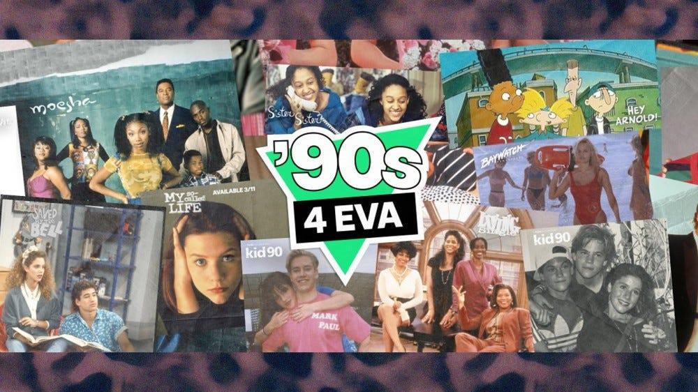 "The Hulu ""90s 4 EVA"" banner."
