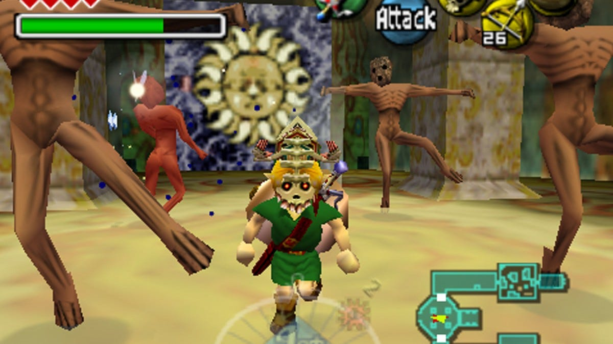 A screenshot of Zelda Majoras Mask.