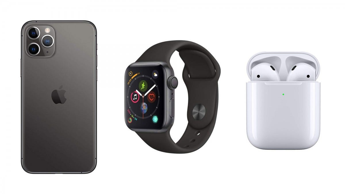 iPhone 11 Pro, Apple Watch 4, AirPods