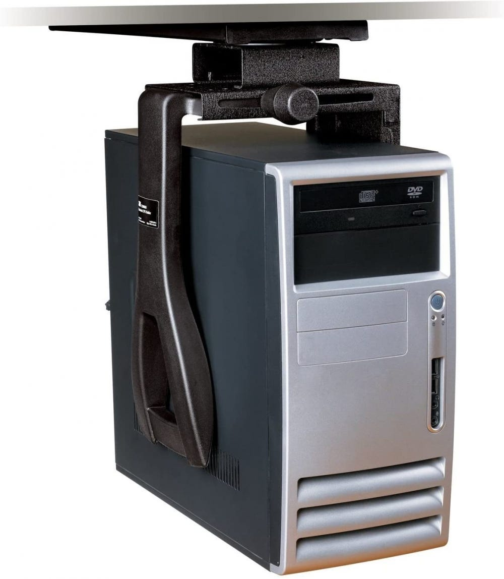 Under-desk CPU holder