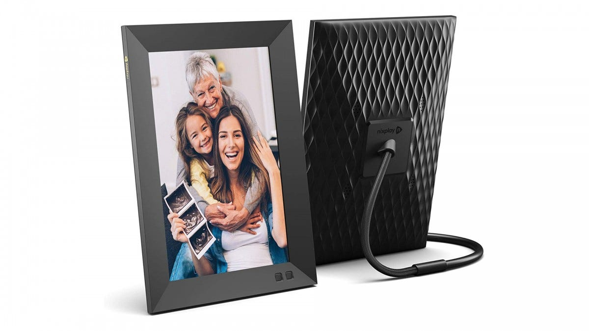 The Nixplay Wi-Fi connected photo frame.