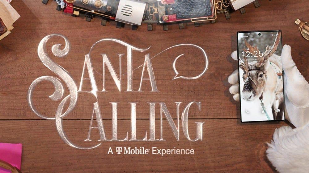 T-Mobile's Santa Calling virtual santa video chat option