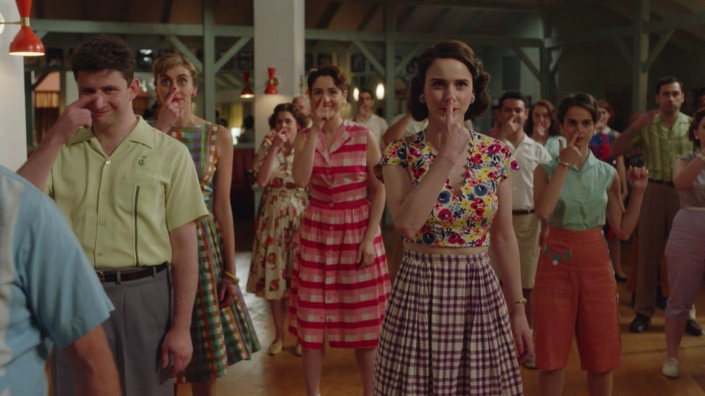 Period costumes in The Marvelous Mrs. Maisel