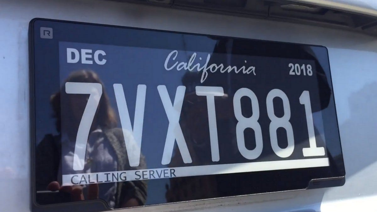 California Unveils New E-Ink License Plates In Limited Pilot