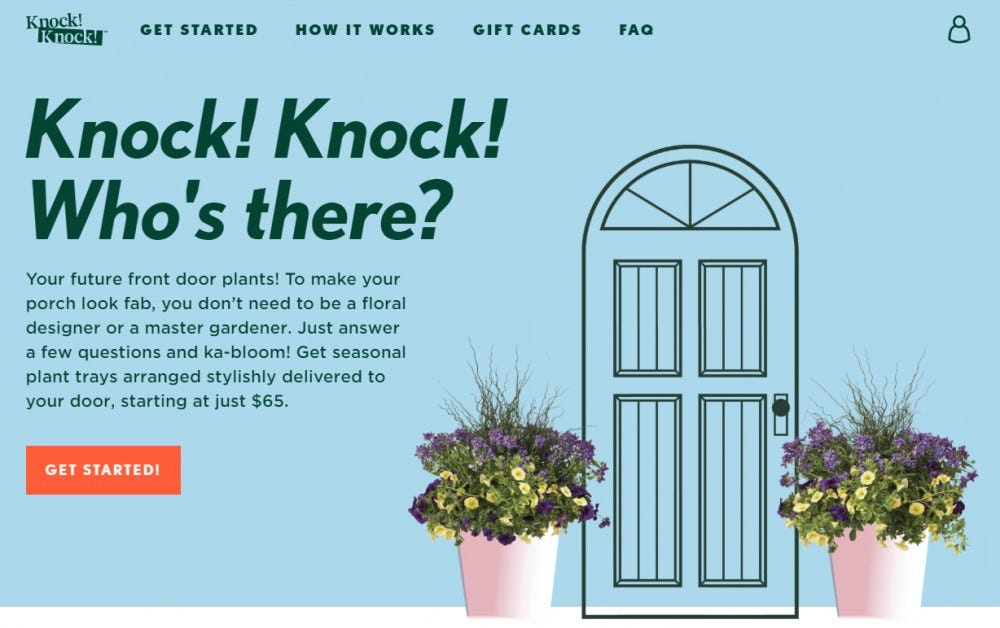 Knock! Knock! seasonal planter trays for your front porch planters flowers greens