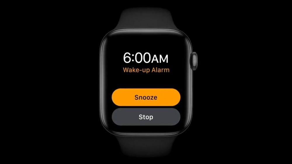 An Apple Watch running watchOS 7.