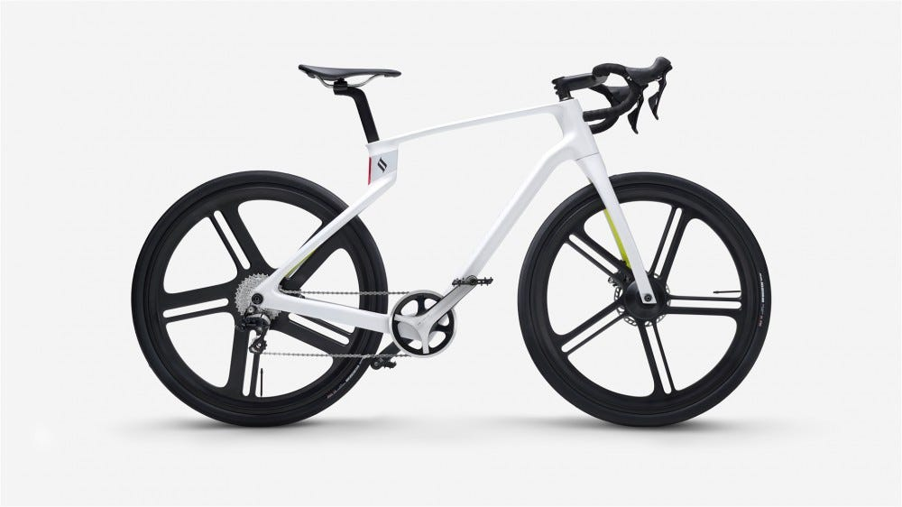 The Superstrata in white with drop bars