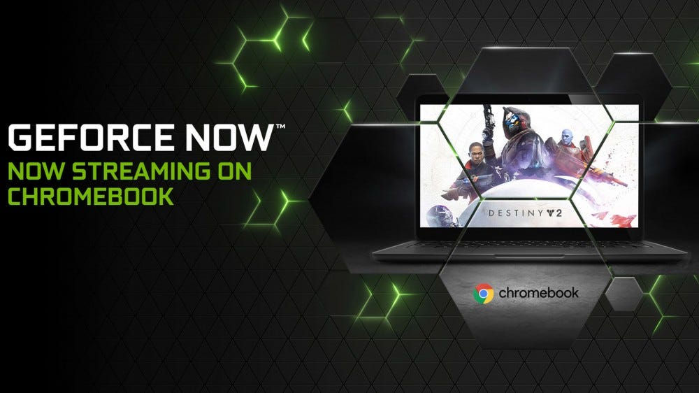 GeForce NOW running on a Chromebook