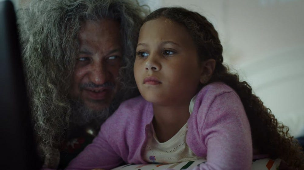 "Hailey and ""Santa"" in SyFy's Happy"