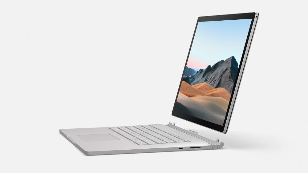 A photo of the Surface Book 3 detached from its Keyboard Base.