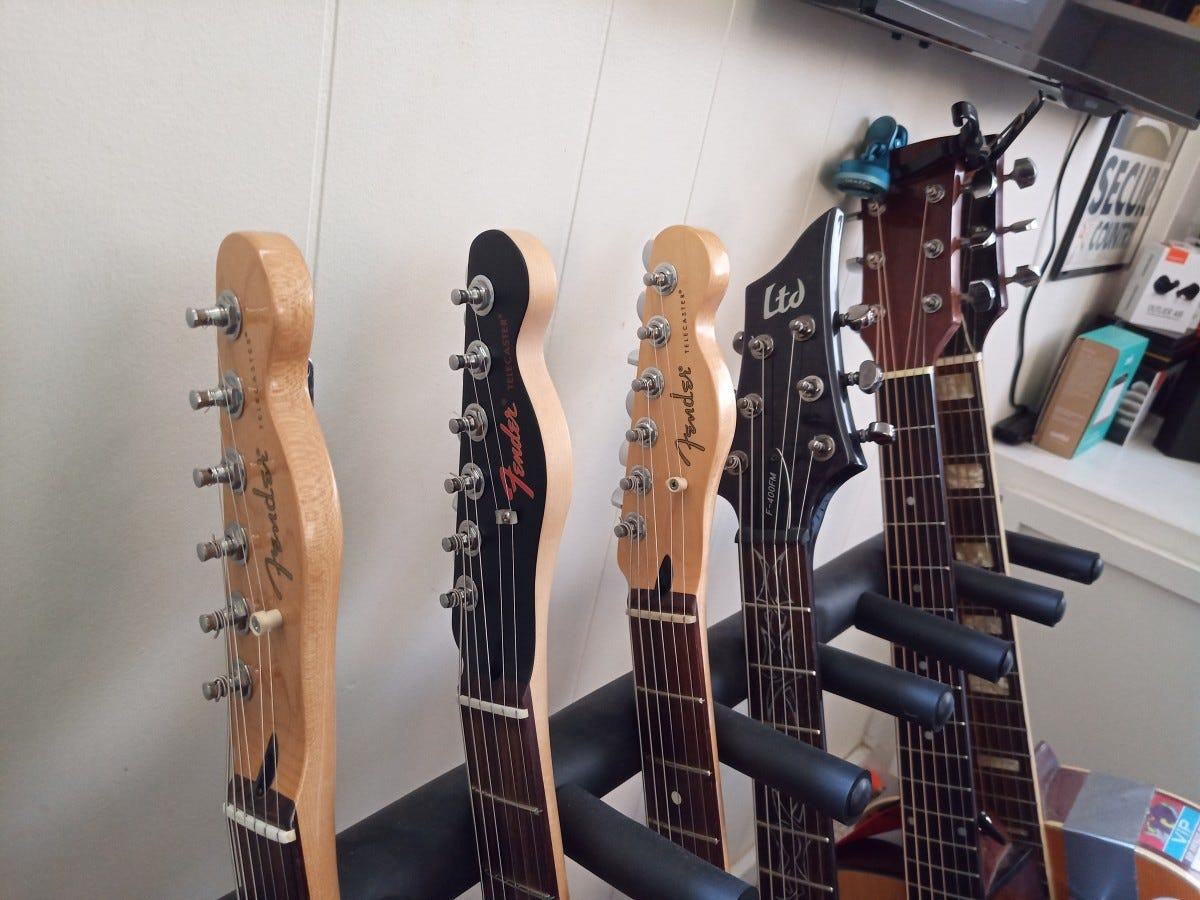 Guitar headstocks--sample shot from the BOLD N1