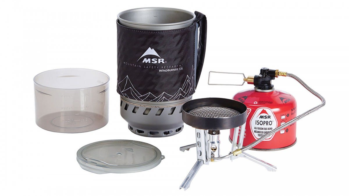 The MSR Windburner Duo Stove System.