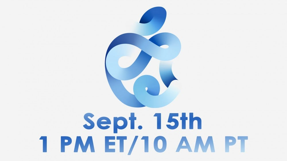 A banner for the September 15th Apple event.