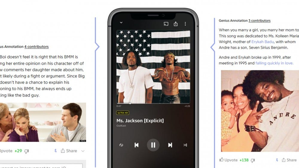 Amazon Music now uses X-Ray to display Genius-style annotations, trivia, and lyrics for songs.