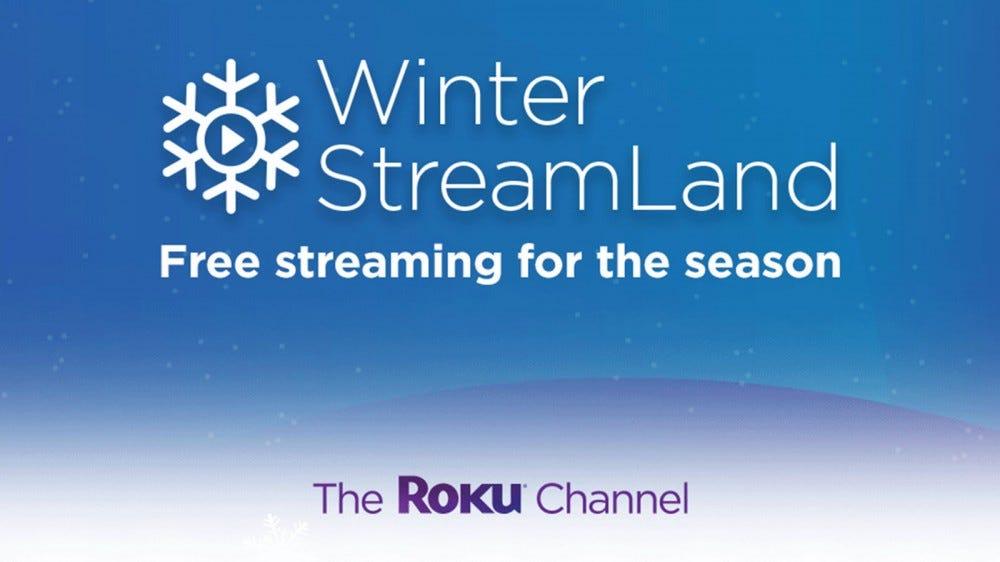 A téli StreamingLand logó egy hópehely felett.