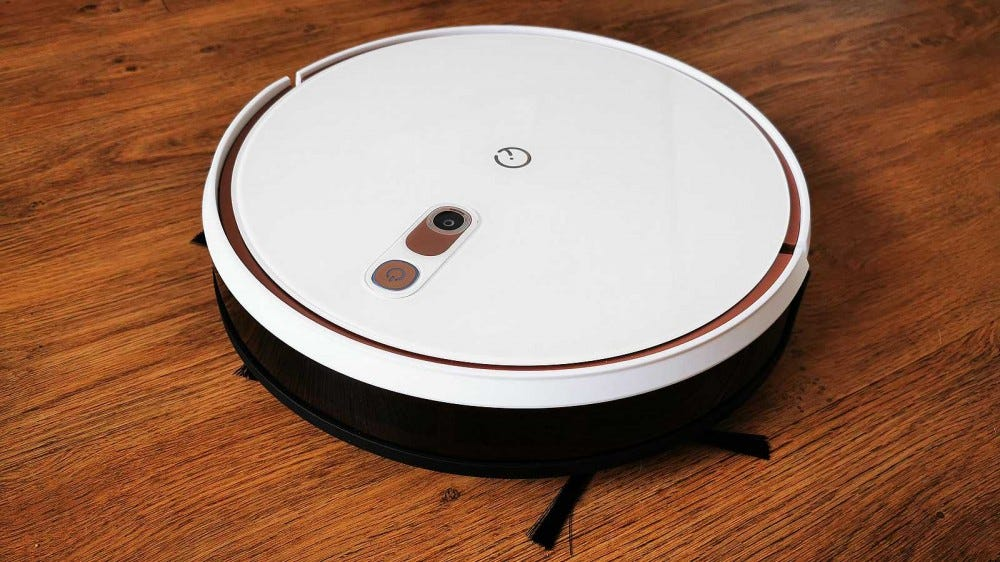 yeedi k700 robot vacuum front view from above