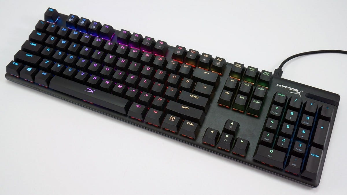 The HyperX Alloy Origins keyboard