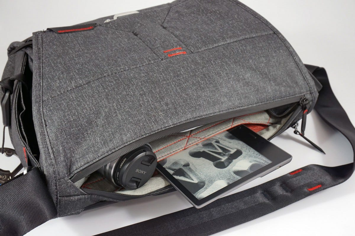 The main flap has an easy-access zipper for grabbing items quickly without a full open.