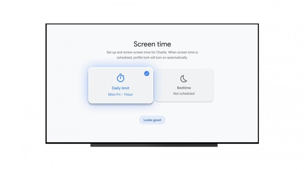 A set of screen time management controls.