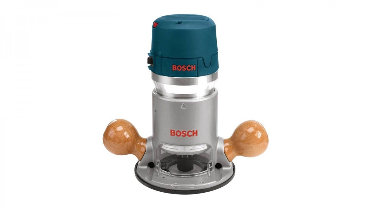 A Bosch 1617EVS router, with wood handles.