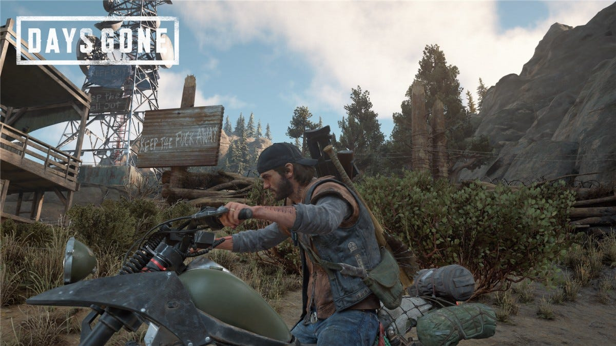 Outside of an ambush camp in Days Gone