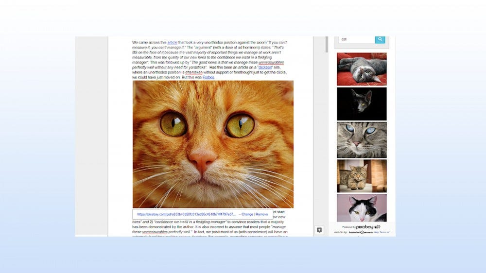 Pixabay add-on for inserting free images