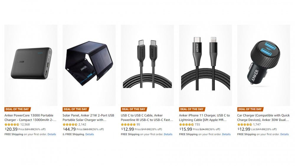 Amazon Deal of the Day Anker charging products