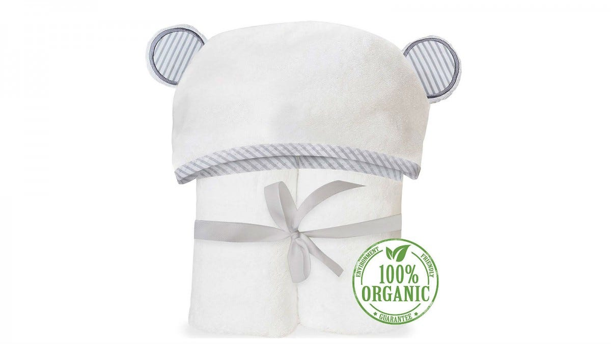 San Francisco Baby Organic Bamboo Hooded Bath Towel