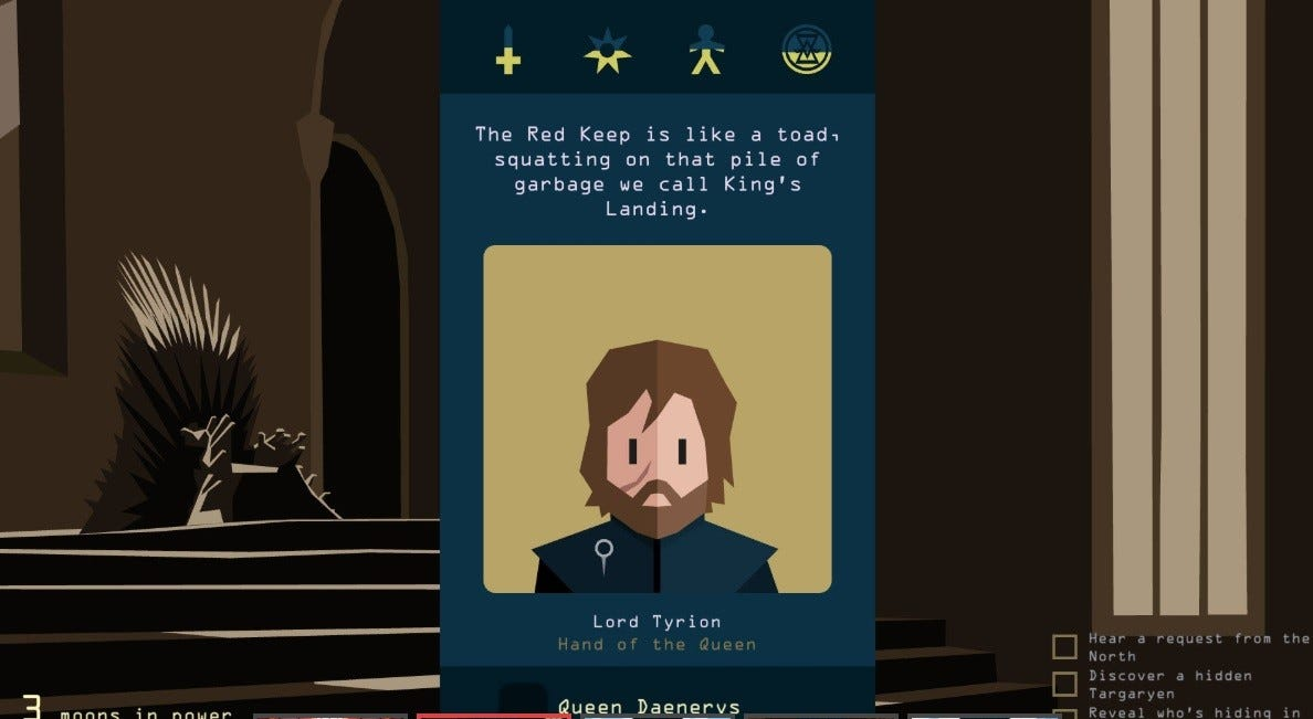 Tyrion in Reigns: Game of Thrones