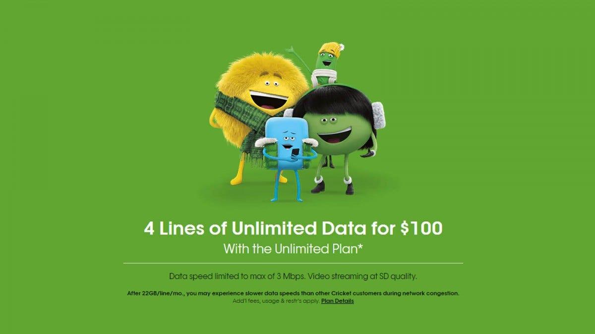 Cricket Wireless unlimited data plan