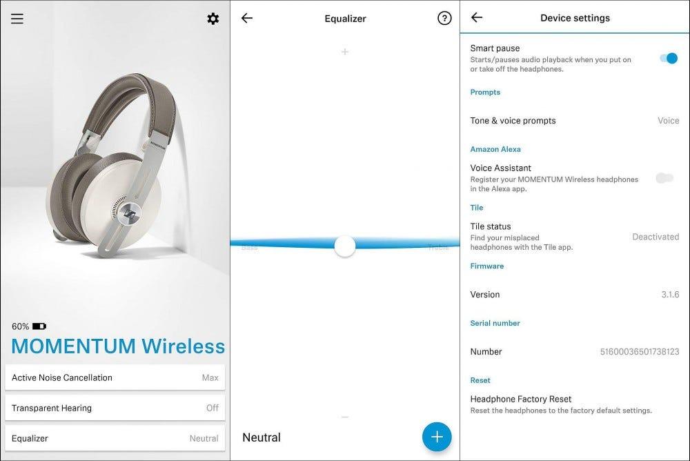 sennheiser smart control app screenshots