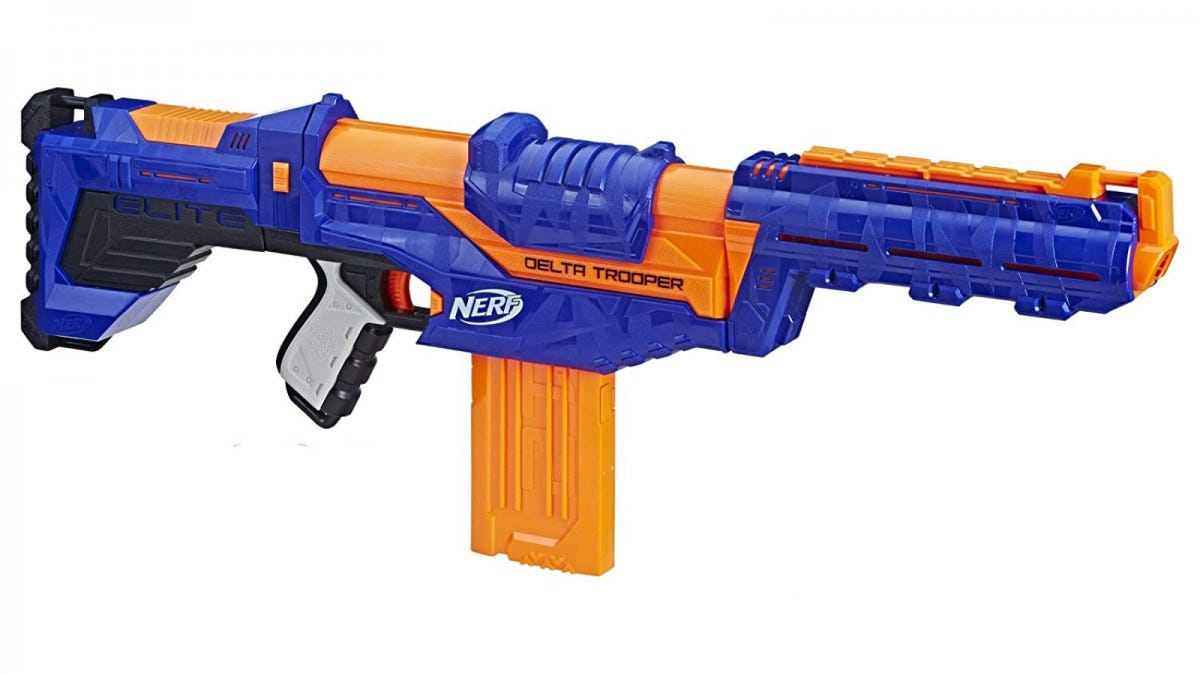 The Nerf N-Strike Elite Delta Trooper.