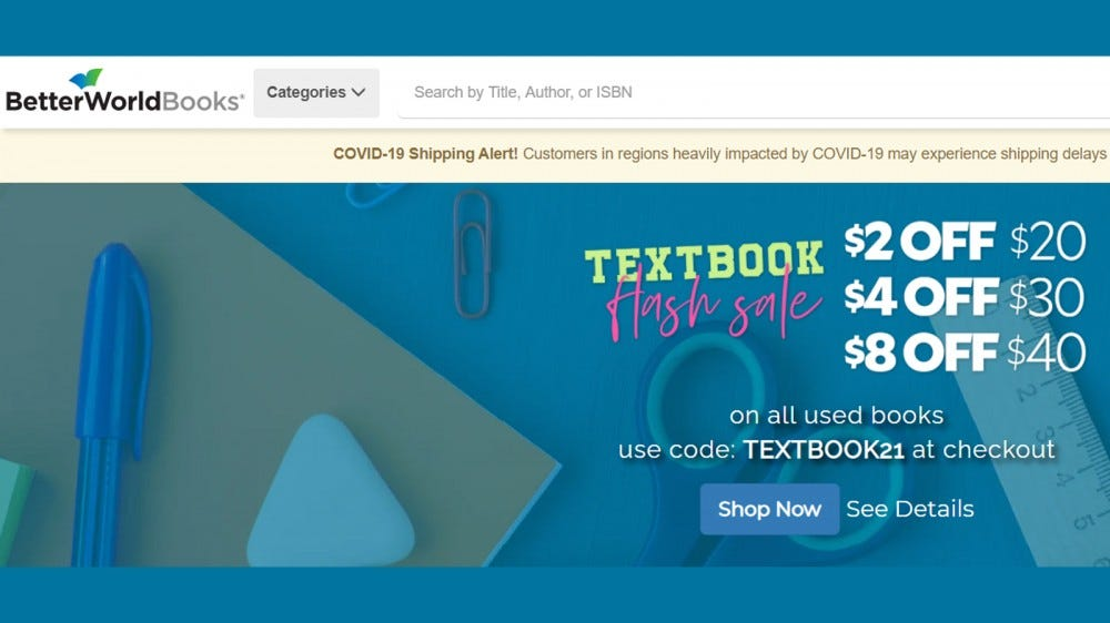 A Better World Books minden vásárláskor adományozott könyvet készít