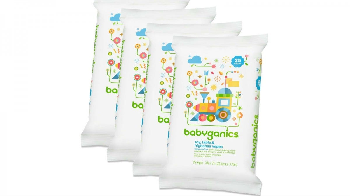 Babyganics Toy, Table & Highchair Wipes