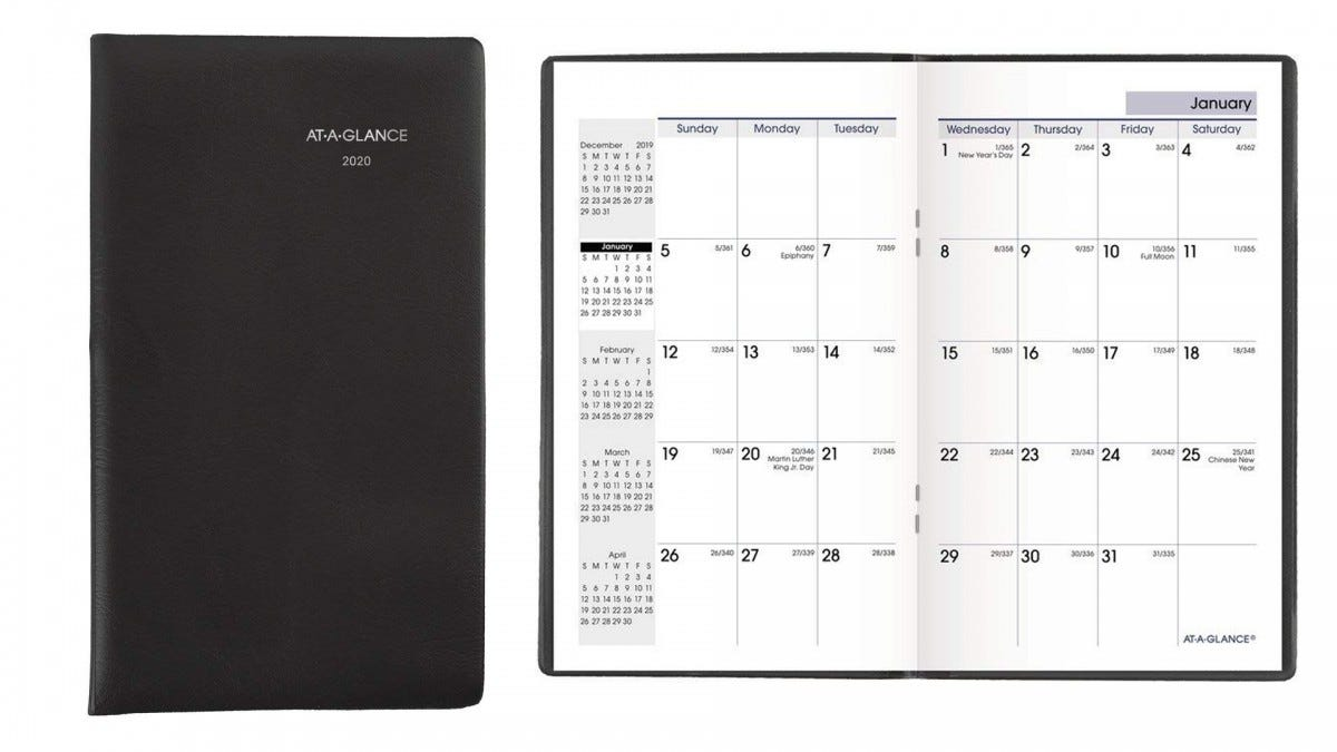 The AT-A-GLANCE pocket planner