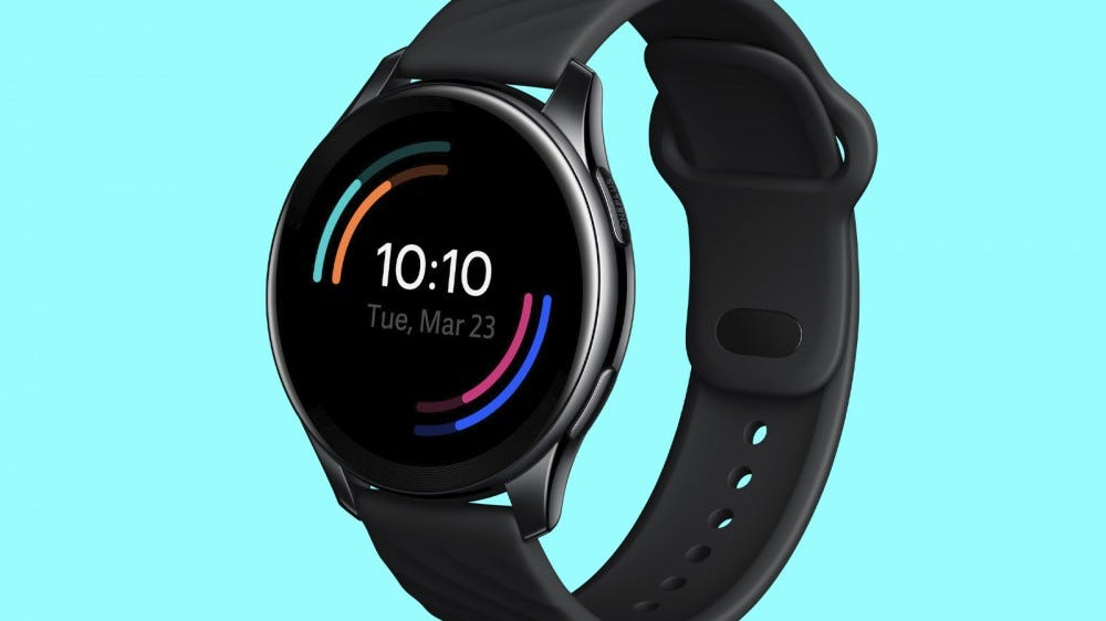 A photo of the upcoming OnePlus Watch.