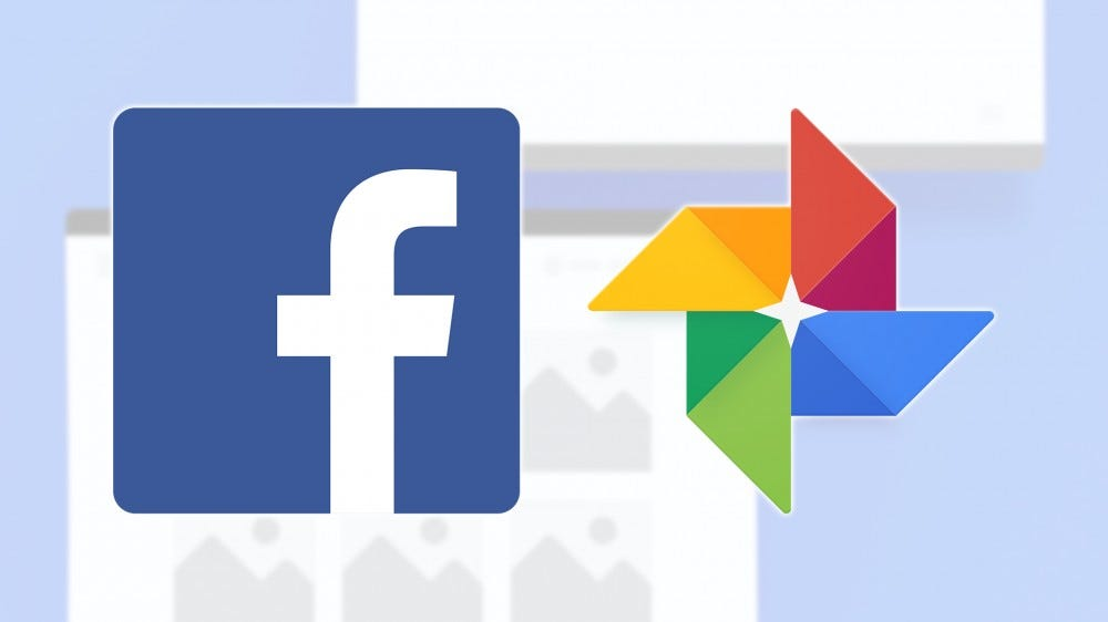 The Facebook and Google logos.