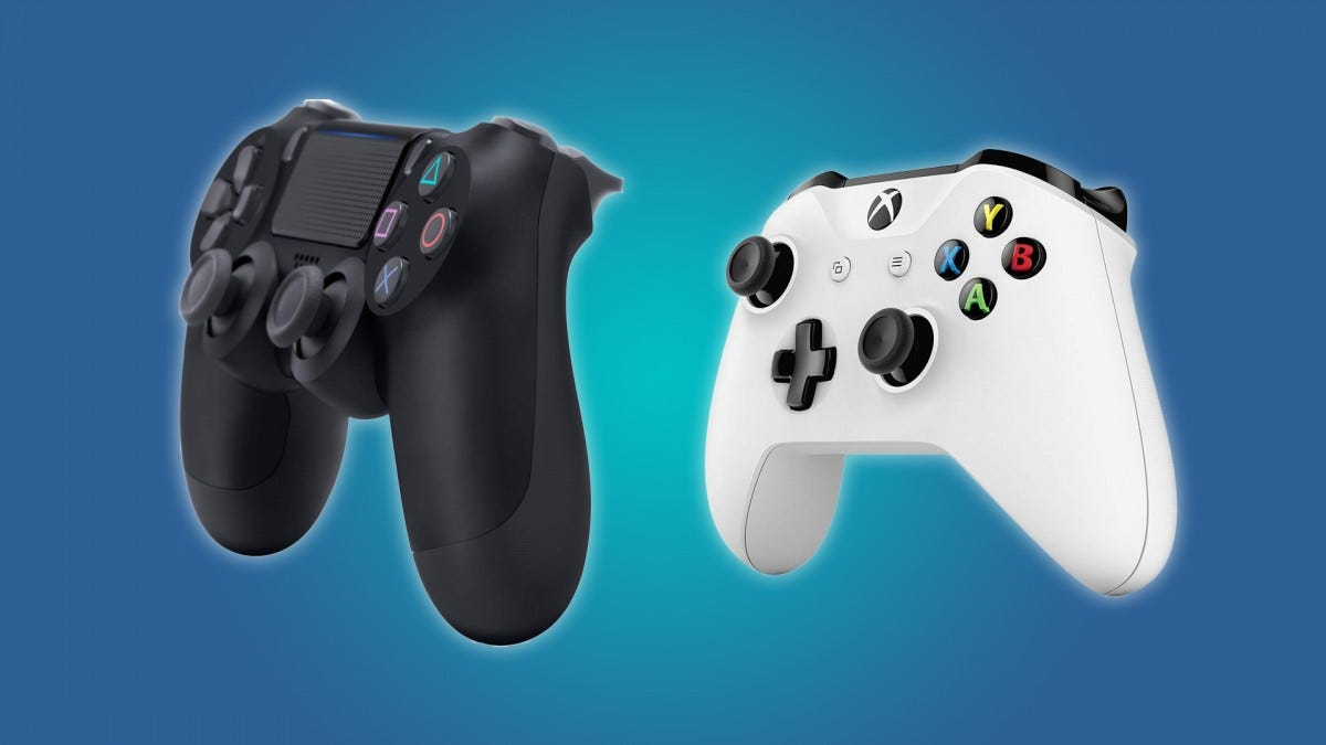 The DualShock 4 Controller, the Xbox One Controller