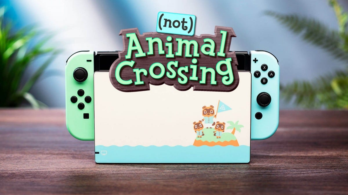 A photo of the (not) Animal Crossing Switch Skin