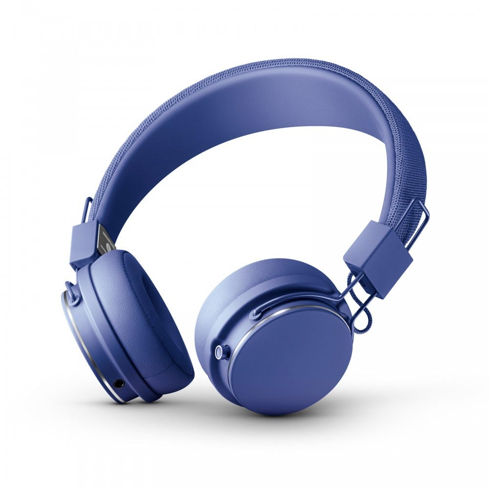 Image of blue headphones