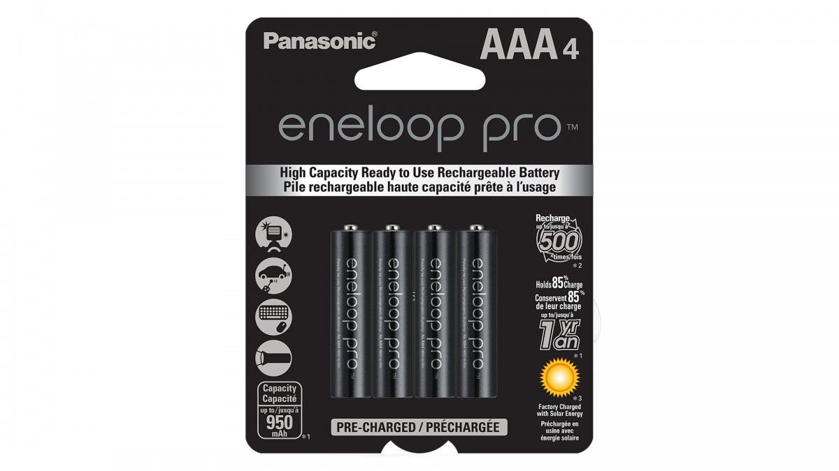 Panasonic Eneloop Pro rechargeable AAA batteries