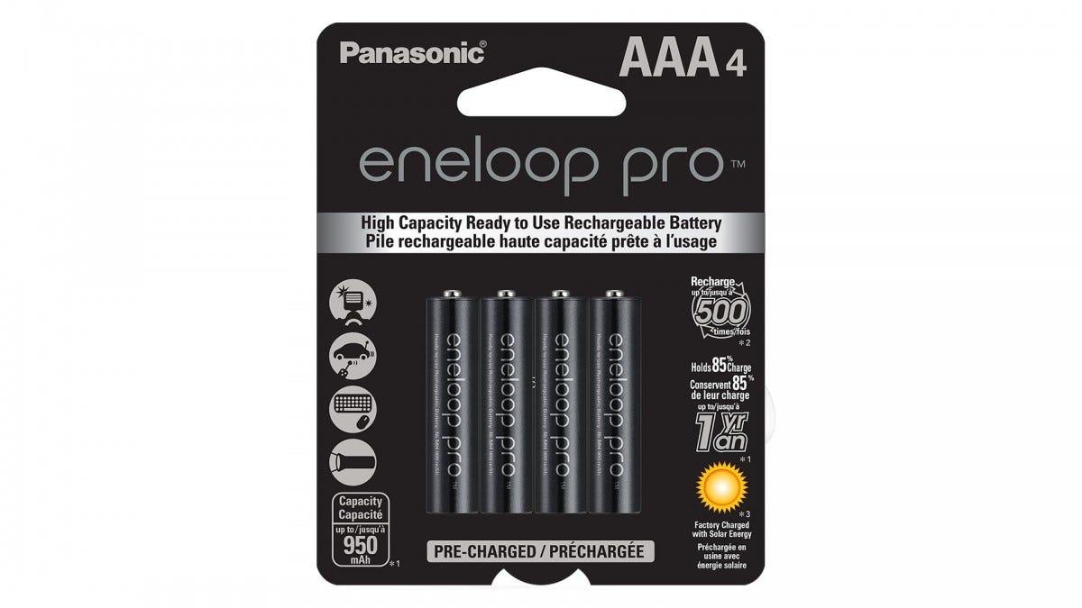 Panasonic Eneloop Pro rechargeable AAA batteries
