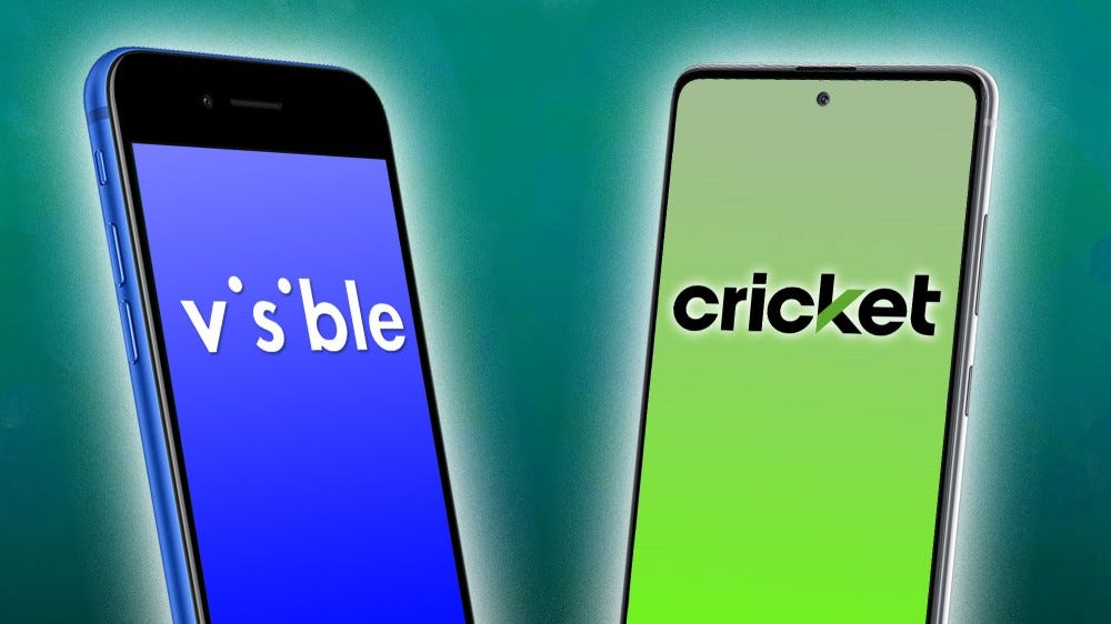 Visible and Cricket logos on phones