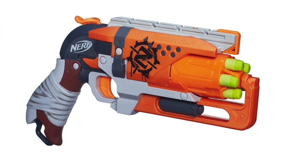 The Nerf Zombie Strike Hammershot Blaster.