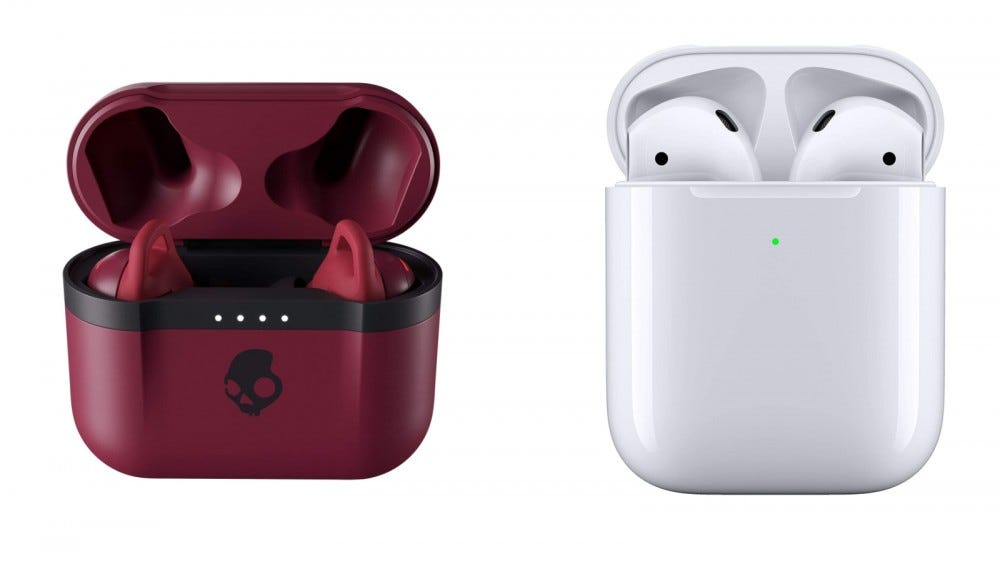 Skullcandy Indy Evo and Apple Airpods