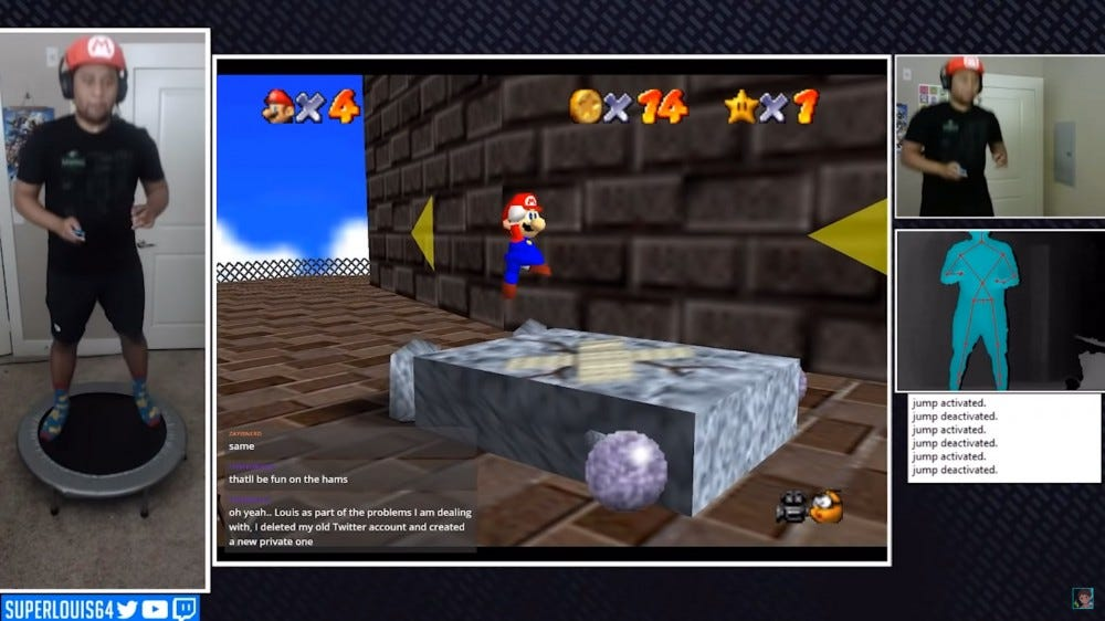 Controlling Mario 64 with the Xbox Kinect