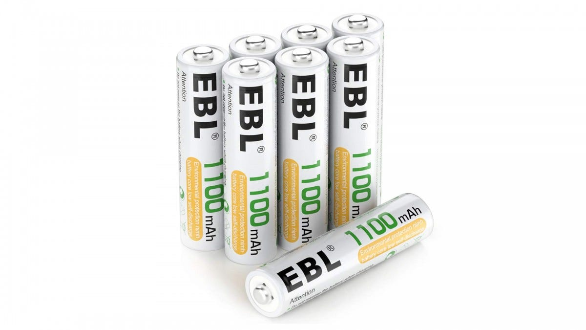EBL rechargable AAA batteries