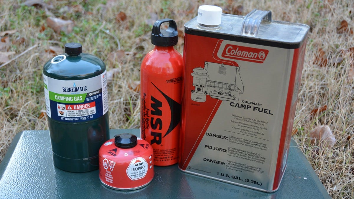 camp stove fuel types
